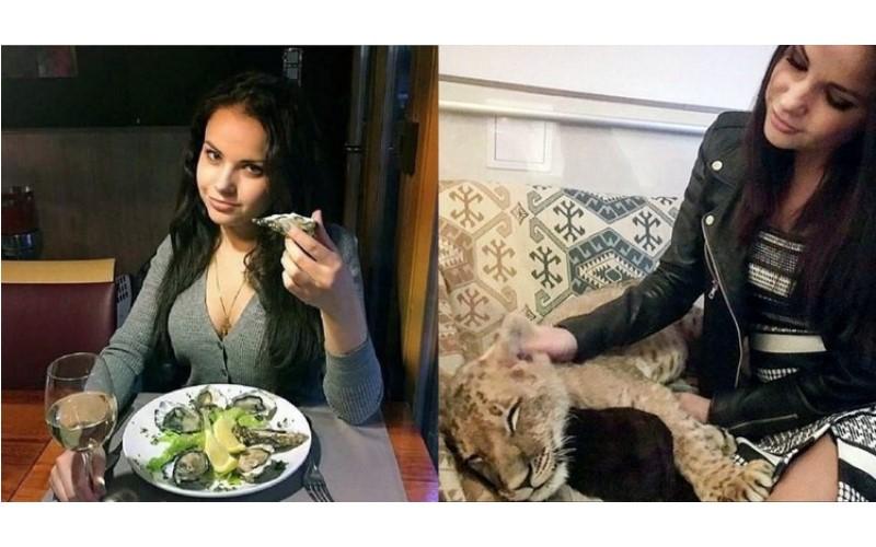 俄羅斯女大生高調炫富卻因一張「摸小獅子」的照片,讓自己的黑暗真相曝光而遭逮捕!