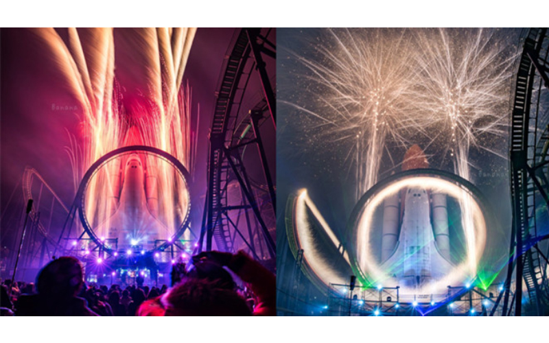 日本主題樂園祭出「360度火燒雲霄飛車」史上最狂跨年煙火!