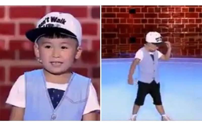 原以為這五歲的小可愛要帶來一段帥氣的舞蹈,沒想到帽子一丟舞風大逆轉!全場笑了!