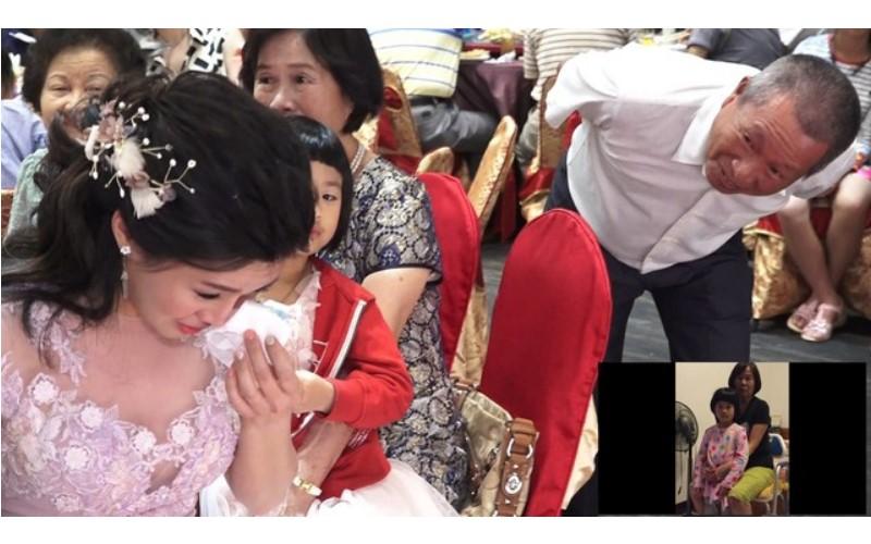 舅舅代替她「父親」錄一段話新郎給新郎...短短2分鐘讓新娘「淚崩」但親友卻全笑場