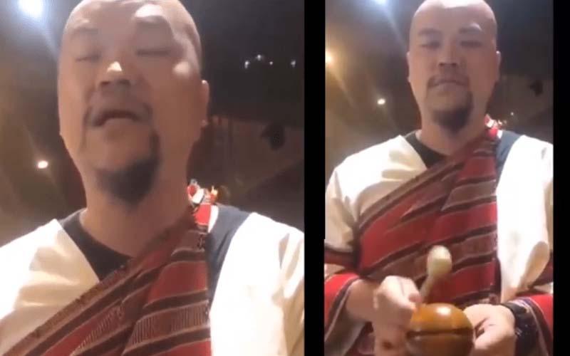 他敲木魚唱出台灣美食「臭豆腐、碗粿、蚵仔煎」被網友肉搜原來是知名樂團的神曲啊!