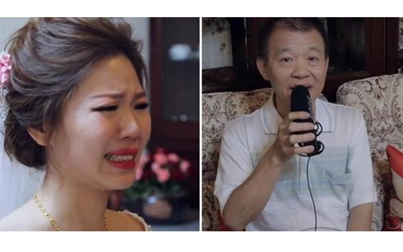 爸爸泛淚「偷偷錄音祝福」,影片裡短短幾句話讓新娘立馬淚崩...場面真溫馨!