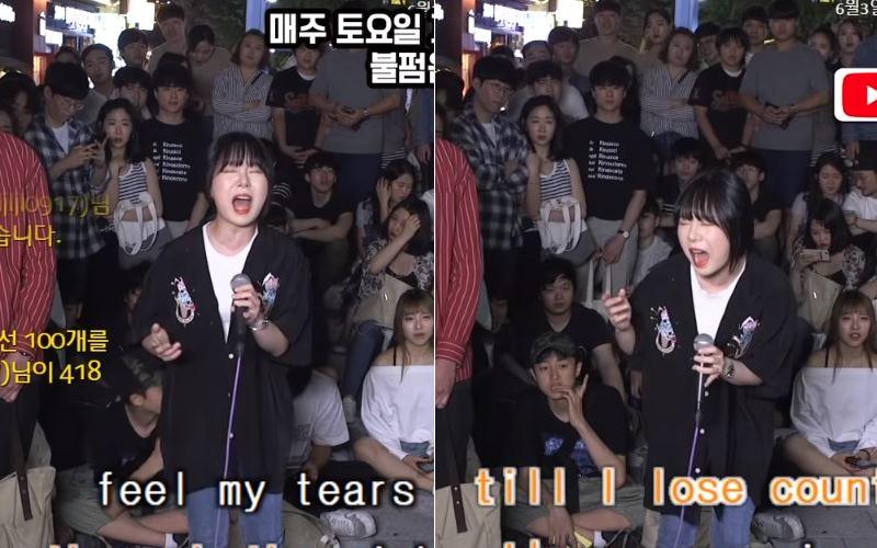 韓國街頭KTV又來了!素人演唱經典神曲《Chandelier》,肺活量驚人副歌「狂飆高音」全場沸騰!