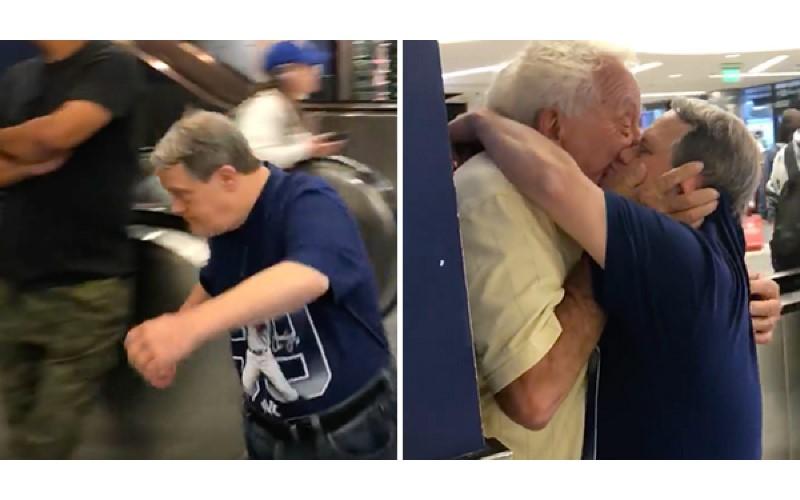「唐寶寶」兒子一下飛機就手刀衝去跟老爸重聚 猛親親:我很想念你