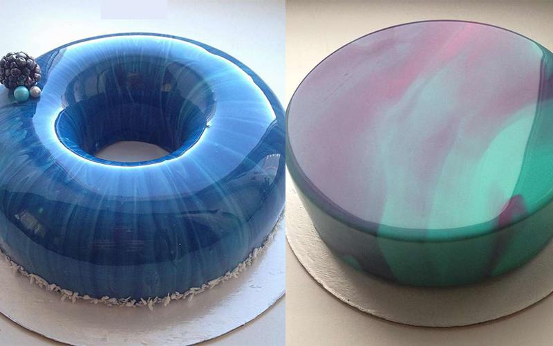 這位甜點師做出了「完美到能當鏡子」的鏡面蛋糕,看到她澆下外層的那一瞬間我所有的疲勞都消失了!