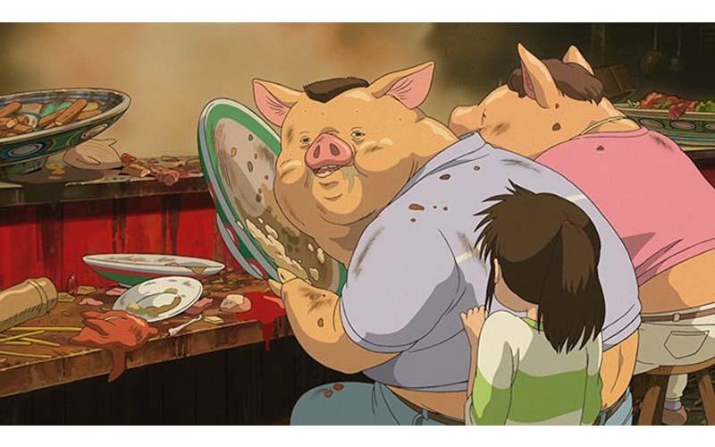 《神隱少女》中千尋的爸媽究竟是吃了什麼,為何會變成豬?多年後宮崎駿親自解惑了!