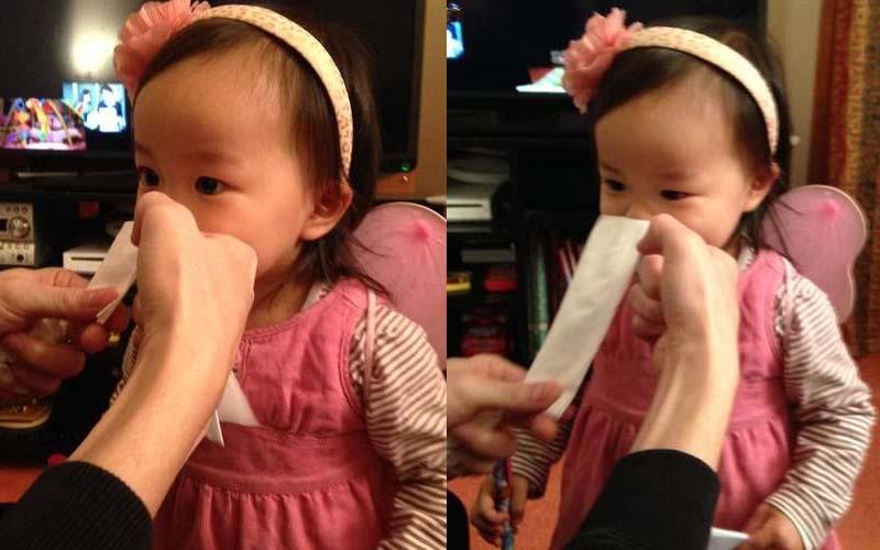 小孩擤鼻涕不再哀哀叫!日本媽媽「吸鼻大法」1張衛生紙1分鐘搞定~