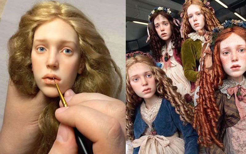 俄羅斯藝術家分享「仿真靈氣人偶」製作過程,擬真程度已經到了讓人跪伏的境界!