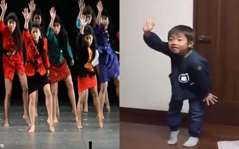 日本小男孩模仿大阪女學生跳「泡沫舞」,神還原每個動作都跟到100%!
