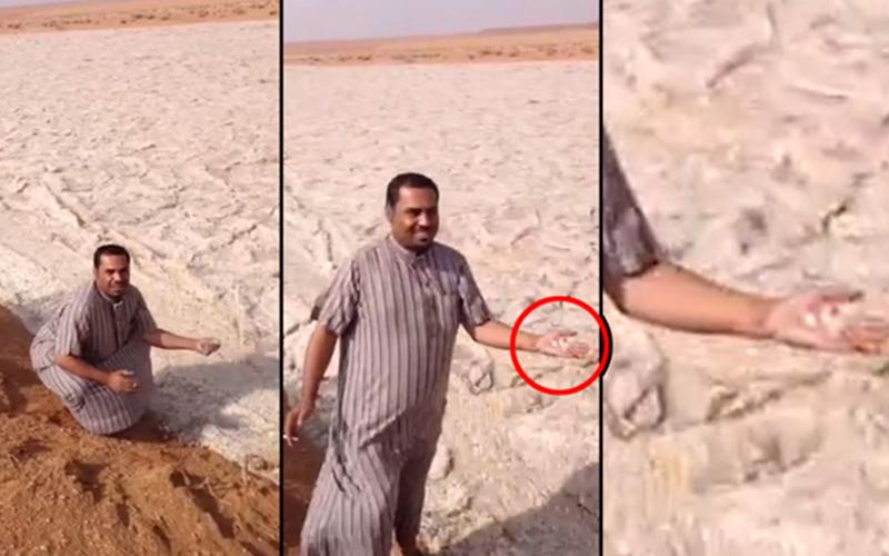 中東沙漠地區驚現當地人都傻眼的「沙河」奇景,沒看到影片真的不會相信是真的!