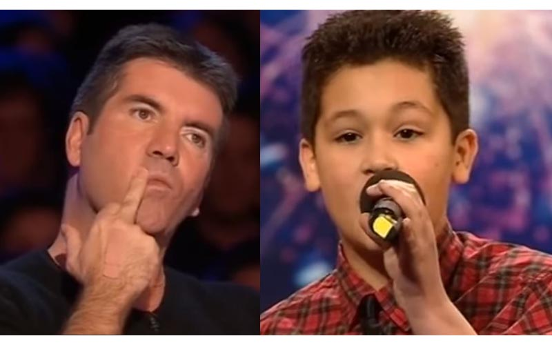 12歲男孩唱歌遭毒舌評審打斷「你在唱什麼?」他鎮定一下用第二首讓全場沸騰了!