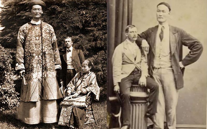 他是史上「最高清朝巨人」連姚明在他身邊一比也幾乎變「哈比人」,照片一曝光世人都震驚了!
