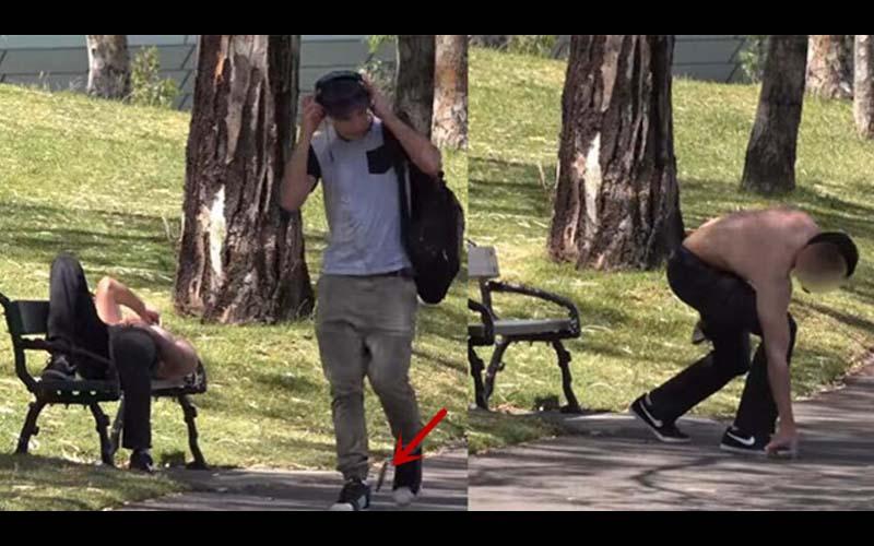 「人性考驗」故意將手機掉在路人旁邊測試會有何反應,結果最後那位的行為讓人好傻眼!!