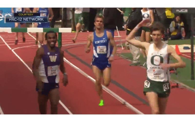 你高興得太早!他提早慶祝勝利,這時後頭「跑者不放棄」奮力加速...