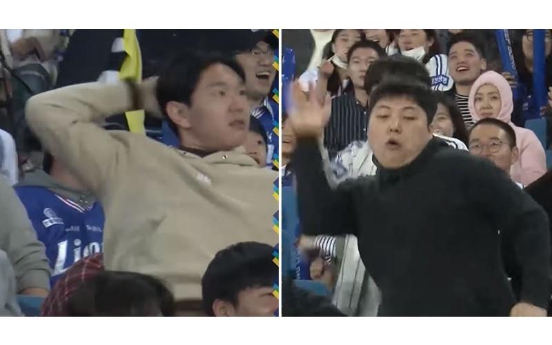 球迷被鏡頭CUE到後「搔首弄姿瘋」熱舞,各個都不服輸「隔空尬舞」氣氛嗨翻 XD