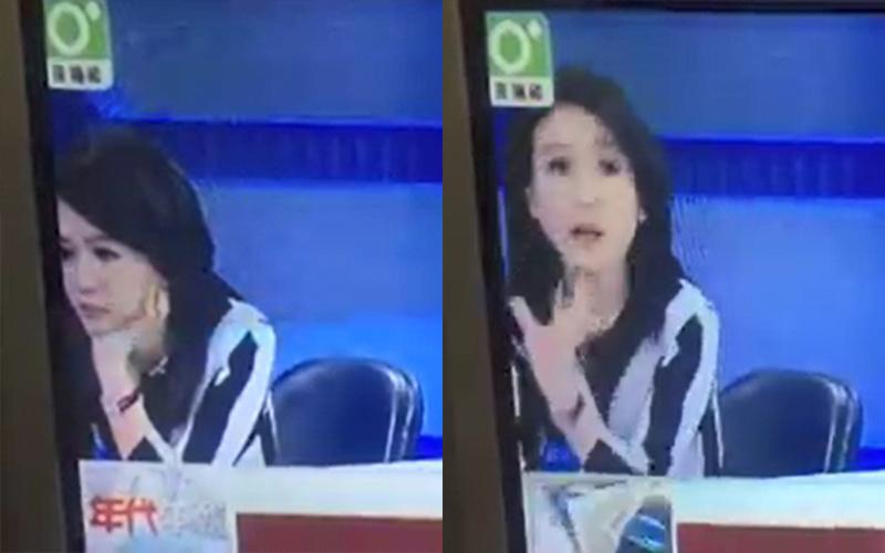 女主播托腮發呆「沒發現鏡頭轉回棚內」網友笑翻:這已經不是她第一次了