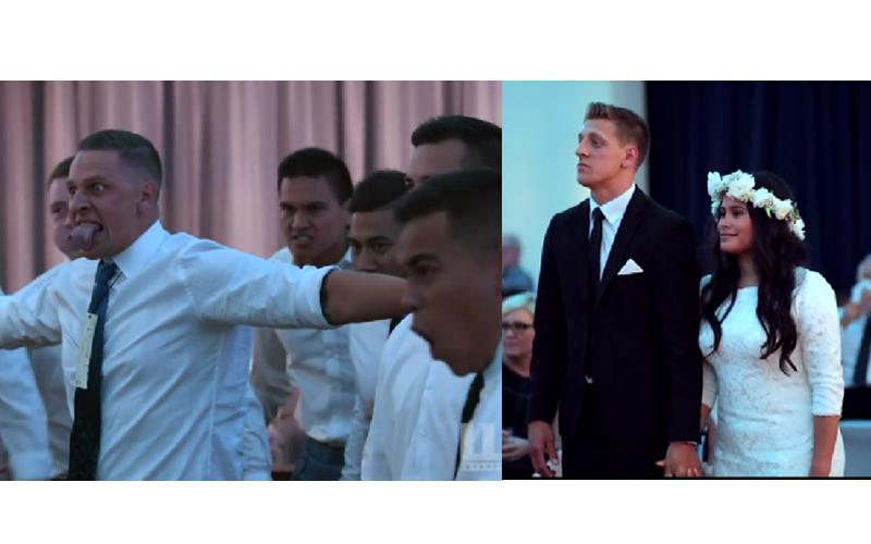 紐西蘭原住民婚禮上「大跳毛利舞」,親友瞪大雙眼吐舌送上「最震撼人心祝福」新娘感動爆哭!
