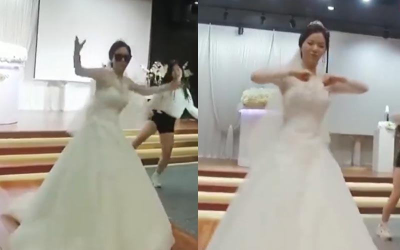 新娘婚禮「拉裙襬勁歌熱舞」 最後轉向新郎...網崩潰:不會跳舞能結婚嗎