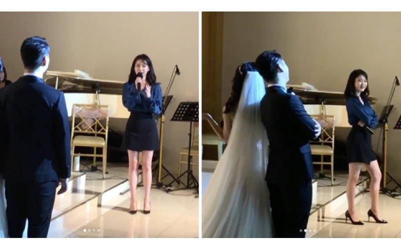 IU驚喜現身伴舞婚禮獻唱《GOOD DAY》狂飆3段式高音!新人舞魂上身像拍MV