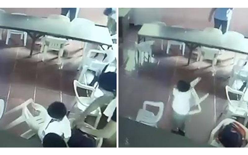 睡到犯儍?男童睡午覺醒來「超ㄎㄧㄤ」把椅子當書包揹著走,老師笑噴:天然呆!
