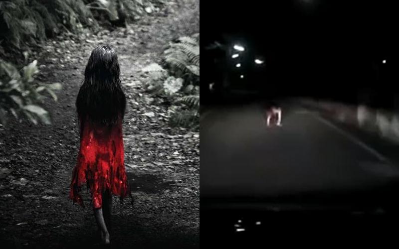 深夜驚見「紅衣小女孩」倒地打滾,詭異行徑車主看傻!網笑瘋:這批很純